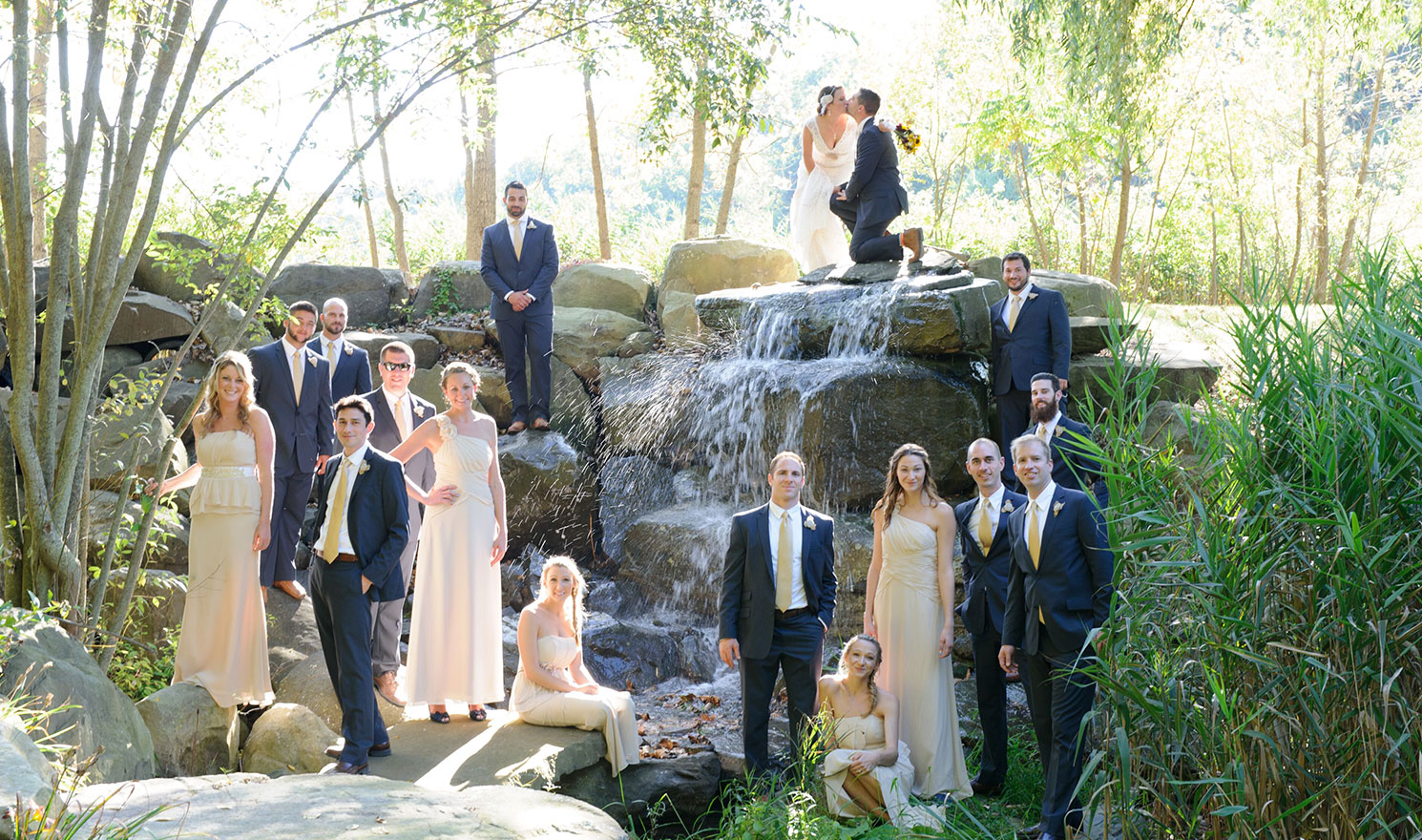 Wedding Party Waterfall