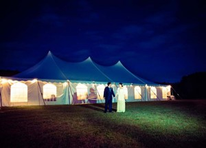 Bride-and-Groom-Outside-Tent