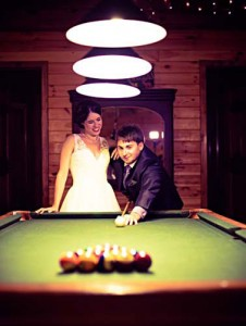 Bride-and-Groom-playing-pool